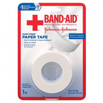 Band-Aid First Aid Hurt-Free Paper Tape, 1 x 10 yards
