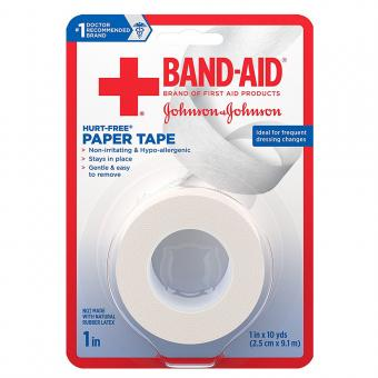 Band-Aid First Aid Hurt-Free Paper Tape, 1 x 10 yards, 2 ct.