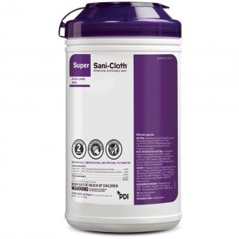 Super Sani-Cloth® Surface Disinfectant Wipe, X-Large Canister